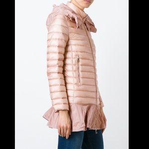 Moncler 'Daurade' Peplum Hem Down Puffer Jacket